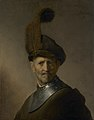 Rembrandt van Rijn - An old man in military costume (Getty Center).jpg