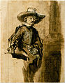 Rembrandt van Rijn - Study for one of the Syndics, Volkert Jansz. - Google Art Project.jpg