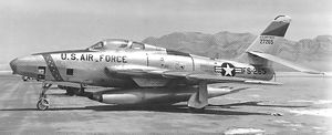 407th Air Expeditionary Group - Republic RF-84K-20-RE Thunderflash 52-7265, 91st SRS, 1955