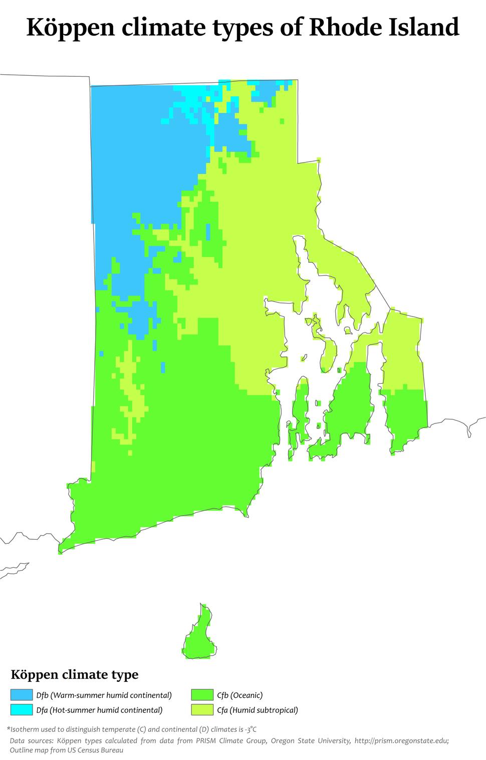 Rhode Island Köppen