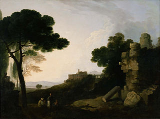 Landscape Capriccio with Tomb of the Horatii and Curiatii, and the Villa of Maecenas at Tivoli