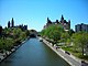 View of the Rideau Canal in downtown Ottawa