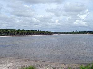 Rio Jaguaribe, perto de Aracati