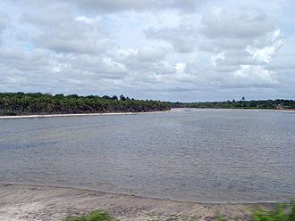 Jaguaribe River - Jaguaribe River, in the vicinity of Aracati