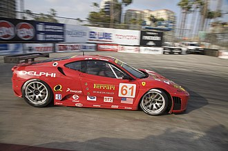 Risi Competizione - The F430 of Harrison Brix and Patrick Friesacher during the 2008 Grand Prix of Long Beach