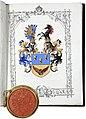 Ritterstandsdiplom - Leeder 1879 - Wappen.jpg