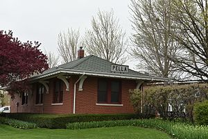 National Register of Historic Places listings in Marion County, Iowa - Image: Rock Island and Pacific Passenger Depot Pella, Iowa