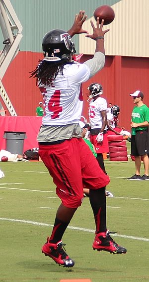 Roddy White - Roddy White at Falcons training camp in 2015