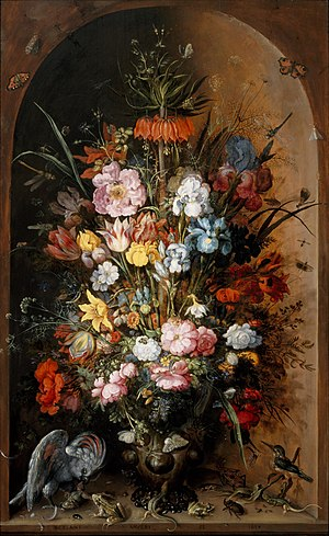 Roelant Savery - Image: Roelant Savery Large flower piece with Kaiser's crown