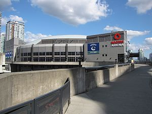The End (The X-Files) - The opening of the episode was filmed at Rogers Arena in Vancouver.