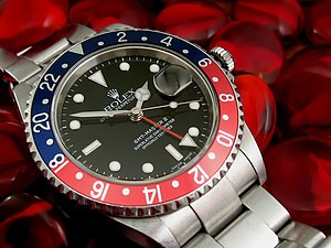 Rolex GMT Master II - Picture of the model 16710, K-serial (model year 2003)