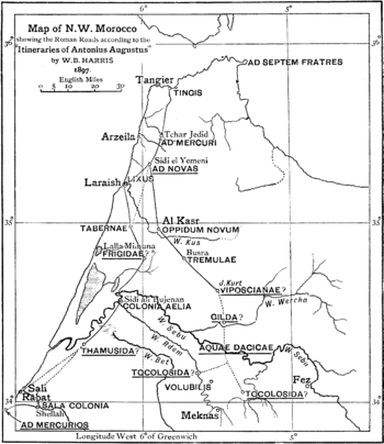 graphic regarding Romans Road Printable named Roman roadways within Morocco - Wikipedia