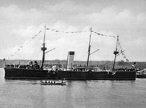 Romanian Naval Forces - The protected cruiser Elisabeta (Elizabeth), built in 1888 by Armstrong.