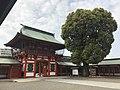 Romon Gate of Fujisaki Hachiman Shrine from inner side 2.jpg