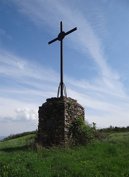 The cross Ravières, Rontalon, Rhône, France