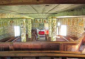 Old Stordal Church - Image: Rosekyrkja interior