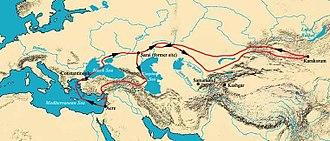 William of Rubruck - Voyage of William of Rubruck in 1253–1255.