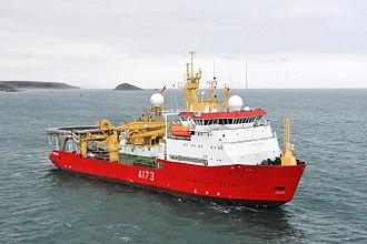 HMS Protector (A173) - Image: Royal Navy Antarctic Patrol Ship HMS Protector MOD 45153156