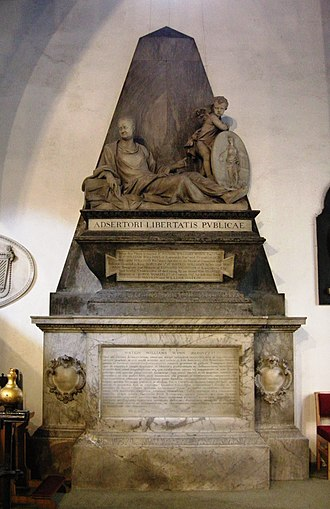 Sir Watkin Williams-Wynn, 3rd Baronet - Monument to Sir Watkin Williams-Wynn at Ruabon, by Michael Rysbrack.