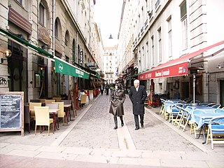 Rue des Marronniers street in the Bellecour quarter, in the 2nd arrondissement of Lyon
