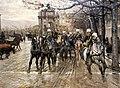 Ruggero panerai, il passaggio di un drappello di artiglieria da piazza san gallo, 1885, 02.jpg
