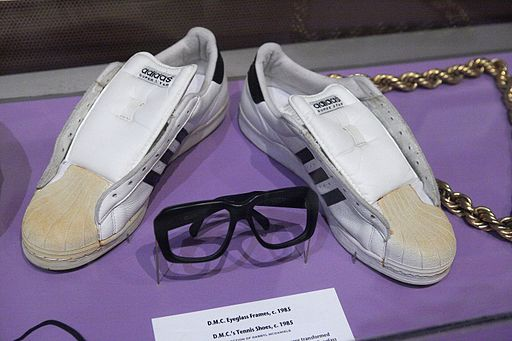 Run-D.M.C.'s Shoes and Glasses - Rock and Roll Hall of Fame (2014-12-30 13.15.11 by Sam Howzit)