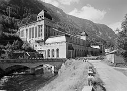 Såheim hydropower station in Rjukan.jpg