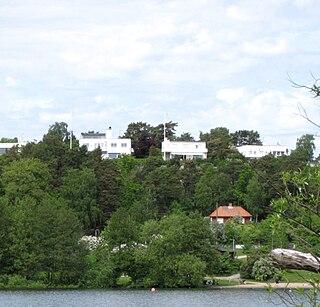 Södra Ängby urban district in Stockholm, Sweden