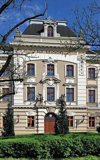 Cieszyn - The District Court of Cieszyn from 1905, an ideal example of the town's long prosperous history and its impact on architecture
