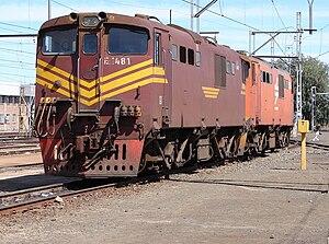 South African Class 6E1, Series 4 - No. E1481 at Beaufort West, 16 September 2009