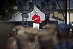 SECNAV addresses the Marines and Sailors of Marine Corps Base Hawaii. (30910967012).jpg