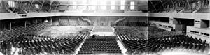 San Francisco Armory - Interior of the Drill Court showing boxing ring, ca. 1928.