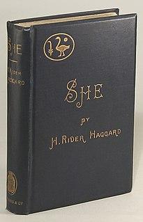 <i>She: A History of Adventure</i> 1887 novel by H. Rider Haggard