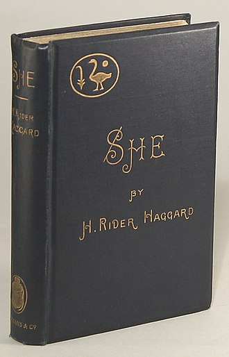 She: A History of Adventure - Cover of the first edition (1887).