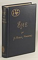 SHE, A History of Adventure (1st Edition Cover), by H. Rider Haggard.jpg
