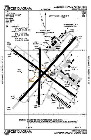 Abraham Lincoln Capital Airport - FAA airport diagram
