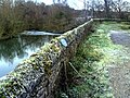 SW parapet of Old Culham Bridge with ice on Back Water - geograph.org.uk - 2191567.jpg