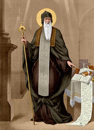 June 27 (Eastern Orthodox liturgics) - Image: Sabinin. St George the Hagiorite colourised