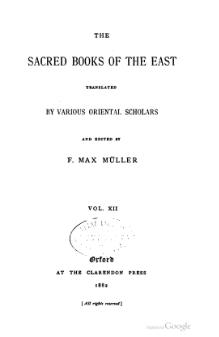 Sacred Books of the East - Volume 12.djvu