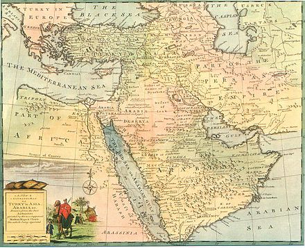 Part of the Safavid Persian Empire (on right), the Ottoman Empire, and West Asia in general, Emanuel Bowen, 1744-52 Safavid Persian Empire.jpg