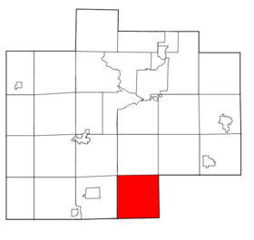 Saginaw County Michigan townships Maple Grove highlighted.png