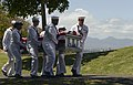 Sailors carry the remains of Ensign Lewis Stockdale. (25707213550).jpg