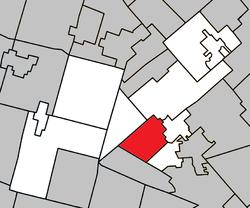 Location within Les Pays-d'en-Haut RCM