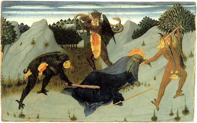 Fitxer:Saint-antony-beaten-by-the-devils-- Sassetta--Siena Pinacoteca.jpg