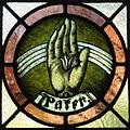 Saint Vincent de Paul Catholic Church (Mount Vernon, Ohio) - stained glass, Father.JPG