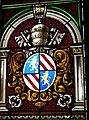 Saintes Saint Pierre - Fenster 5a Therese Papstwappen.jpg