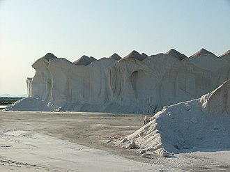 Campos, Spain - Salt stocks in Ses Salines.