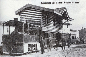 Tram - Steam hauled tram in Italy c 1890s