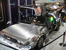 Silver-grey Back to the Future Delorean