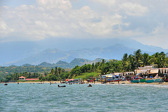 Lingayen Gulf - Lingayen Gulf at San Fabian, Pangasinan, with the Cordillera Central mountains in the background.